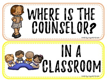 Where is the counselor? Door Sign