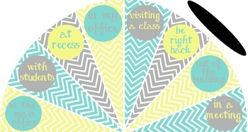 Pale Yellow, Tiffany Blue and Gray - Where is the counselor? sign - variation #1