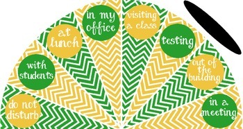 Green and Gold - Where is the counselor? sign - variation #1
