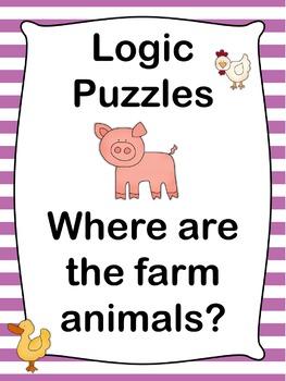 Logic Puzzles  Where are the farm animals?