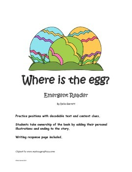 Where is the egg? Emergent Reader