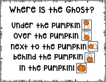 Where is the Ghost? (Pocket Chart Activity and Student Book)