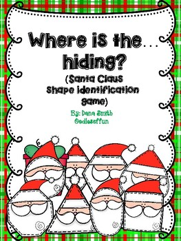 Where is the... hiding?  (identifying Santa shapes game)
