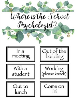 Where is the school psychologist?