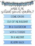 Where is the school social worker door sign