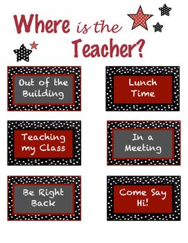 Where is the teacher?