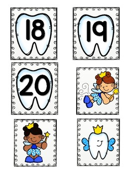 Where is the tooth fairy? (0-20 number recogintion game)