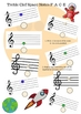 Piano Theory Worksheet: Treble Clef Space Notes Reading and Composing Activity