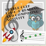 Piano Theory Worksheet: Treble Clef Space Notes Reading an