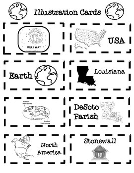 Where on Earth Is Louisiana? Matching Game