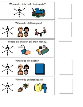 Where questions using Boardmaker visuals