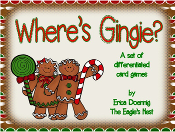 Where's Gingie?  A set of differentiated card games