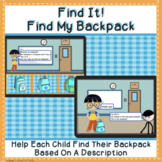 Where's My Backpack?  (Boom Cards™, Digital Resources)