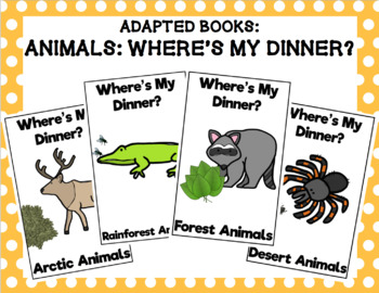 Where's My Dinner? Animals Adapted Book Bundle