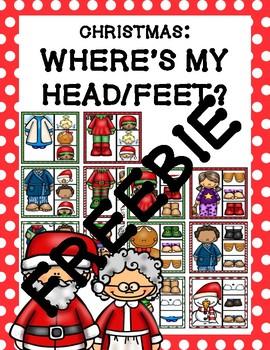 Where's My Head/Feet Clip Cards