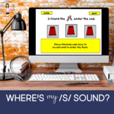 Where's My /S/ Sound? Articulation Practice (NO PRINT) (BOOM CARD)