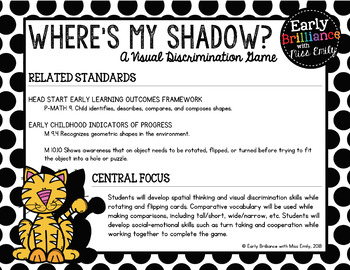 Where's My Shadow? A Visual Discrimination Game