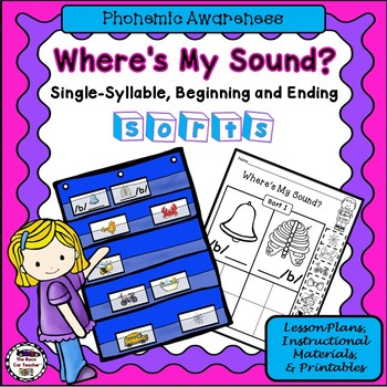 Where's My Sound? Single-Syllable, Same Sound Picture Sorts with Lesson Plans