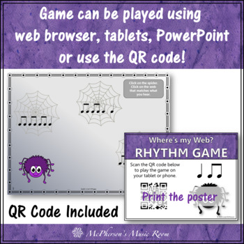Where's My Web? Interactive Rhythm Game (Eighth Notes/Quarter Notes)