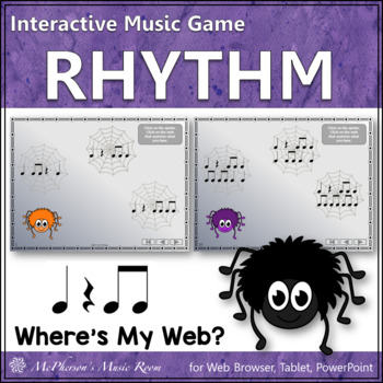 Where's My Web? Interactive Rhythm Game (Eighth Notes with