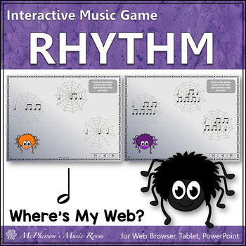 Where's My Web? Interactive Rhythm Game (Half Notes)