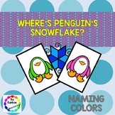 Where's Penguin's Snowflake?  -  Color Naming
