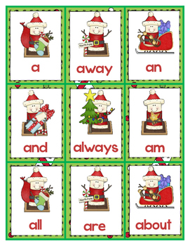 Where's Santa? First Grade Sight Word Hide and Find Christmas FREEBIE