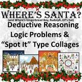 "Where's Santa? ""I Spy"" Collage, Deductive Reasoning & Logic"