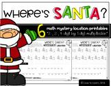 Where's Santa? Multiplication Math Mystery Locations