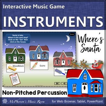 Christmas Music: Non-Pitched Percussion Interactive Music Game {Where's Santa?}