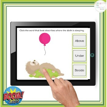 Positional Words Flashcards BOOM Cards™ NO PRINT Speech Therapy