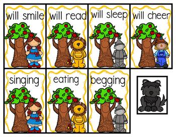Where's Toto? Regular Verbs Tense Past Present Future Second Grade Grammar