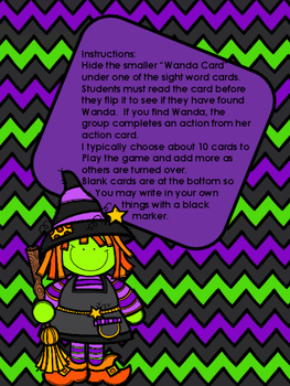 Where's Wanda Witch, a sight word game