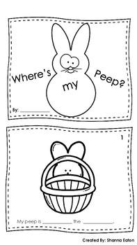 Where's my Peep? - Noun and Preposition Mini-Book