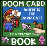 Where's the Barn Cat?  Boom Book (Boom Card Activity)  Distance Learning