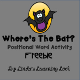 Where's the Bat? Positional Word Activity Freebie