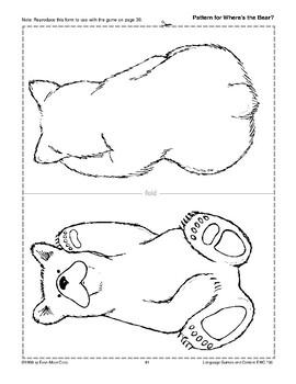 Where's the Bear? (positional words)