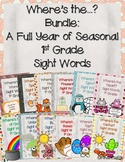 Where's the...? Bundle: A Year Packed with Seasonal Sight Words 1st Grade