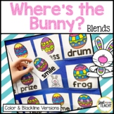 "Where's the Bunny? Blends ""Hide & Find"" Pocket Chart Game"