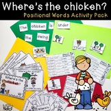 Where's the Chicken Positional Words Activity Pack