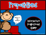 Where's the Monkey? ~ Interactive Preposition PPT Game