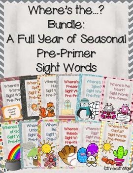 Where's the? Pre-Primer Sight Word Seasonal Bundle