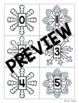 Where's the Snowman? (Numbers, Number Words, Color Words) Pocket Chart Game