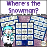 Where's the Snowman? (Numbers, Number Words, Color Words)