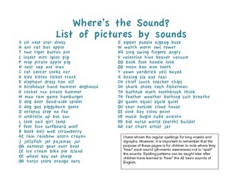 Where's the Sound? Phonemic Awareness Activity