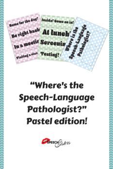 Where's the Speech-Language Pathologist? Pastel edition