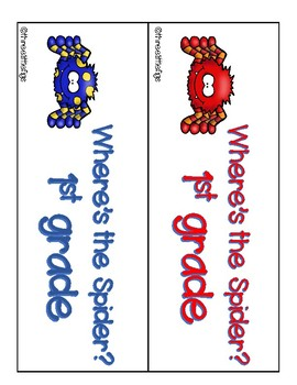 Where's the Spider? 1st Grade Sight Words Activity