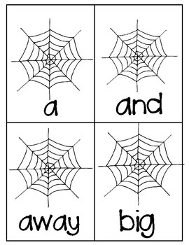 Where's the Spider? Pre-Primer Sight Word Activity