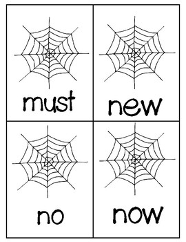 Where's the Spider? Primer Sight Words Activity