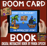 Where's the Treasure? BOOM Book (Boom Card Activity)  Distance Learning